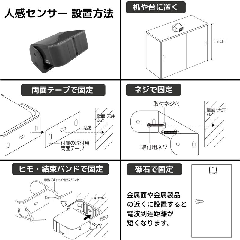 人感センサの設置方法