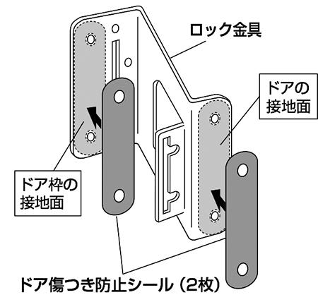 ドア傷つき防止シール