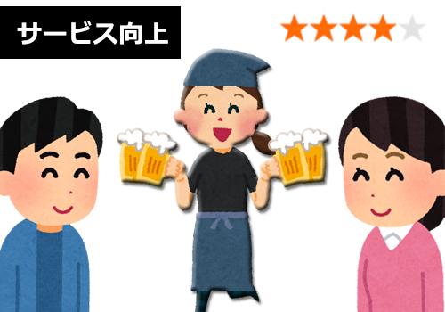 居酒屋 サービス向上 高評価
